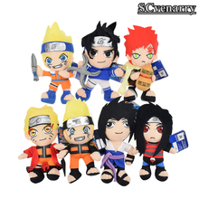 7 Styles Anime Naruto Plush Doll Uzumaki Sabaku no Gaara Uchiha Sasuke and Itachi Soft Stuffed Animal Toy 20 CM
