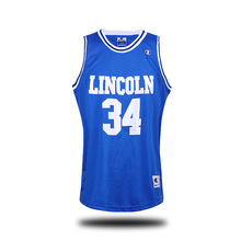 The film version of  blue white # 34 sky big irrigation basketball clothes  jersey mesh embroidery Retro Mens basketball jersey