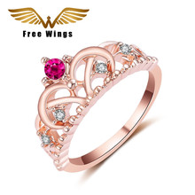 2017 new Europe and the United States micro ring creative alloy crown offered electroplating Mosaic quit straight jewelry wholes