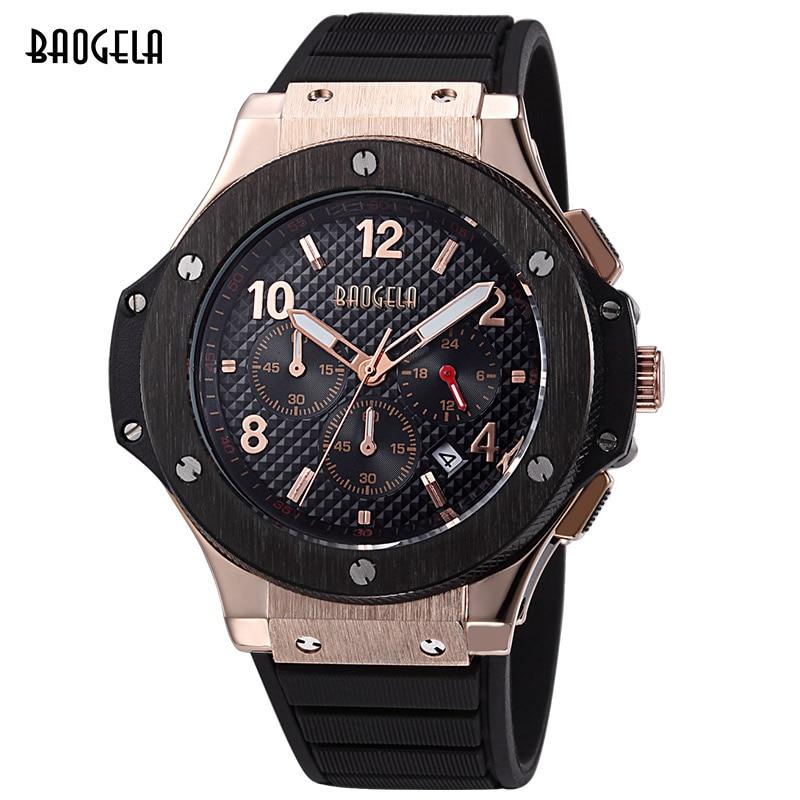 Sport Suit Men Watches Men Waterproof Silicone Band Quartz Wrist Wristwatch Luminous Calendar Clock Male Chronograph Ceasuri 46<br>