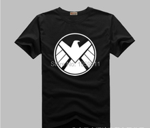 100 Cotton Unisex Marvels Agents of S.H.I.E.L.D. Shield T-shirt Shirt Movie Tops Cosplay Costume Theme Of Shield