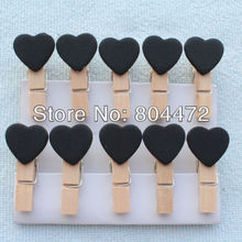2000 Cute Black Love Peach Heart Wooden Pegs Good Package Condition Wedding Party Decorations