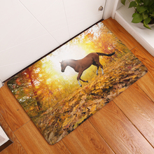 19 Style Horse Print Carpets Anti-Slip Floor Mat Cartoon Outdoor Rugs Front Door Mats 40x60cm 50x80cm(China)