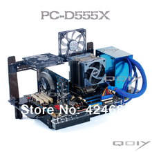 QDIY PC-D555X PC ATX Personalized Acrylic Computer Tower Transparent Computer Case(China)