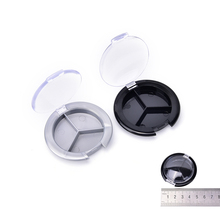 2017 New DIY Makeup Tool Mini Plastic Empty Eyeshadow Case Palette Single Case Round Jar Powder Cosmetics Compact Container 1PCS