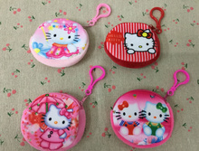 NEW HOT 4Colors - Little 7.5CM Mini Key Hook Coin Bag , Hello Kitty Plush Coin BAG Pouch , Coin Purse Wallet
