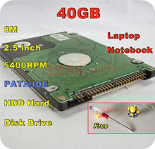 "2.5"" HDD IDE PATA 40GB 40g ide 5400RPM 8M Internal Hard Disk Drive laptop notebook Free Shipping screw driver free"