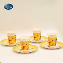24pcs/lot Disney Party Supplies Winnie the Pooh Theme for 12kids Birthday Party Decoration Tableware set plate+cup & Pooh Cups Promotion-Shop for Promotional Pooh Cups on Aliexpress.com