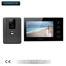 "HOMSECUR 7"" Color Video Door Phone Intercom With 700TVL CMOS Rainproof IR Sensor Camera(China)"