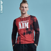 Aimpact 2017 Cotton Starry Sky Mens T-Shirts Tie Dye Long Sleeve T shirt Men Fashion Fitness Funny Tshirt Brand Clothing AM3004(China)
