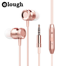 Elough Universal In-ear Earphone For Phone 3D Bass Headset With HD Microphone Earphones and Headphone For Girl Computer Earpiece