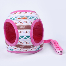 Pet Chest Strap Leash Printed Dog Vest Harness and Leash for Puppy Dog Walking Vest Type Traction Rope Pet Products S25