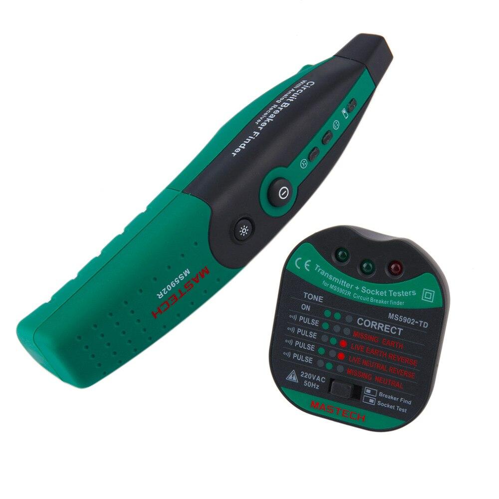 1Pc 1Pc MASTECH MS5902 Circuit Breaker LED Tester Finder CATII 600V Zeroline 220V EU<br><br>Aliexpress
