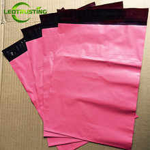 Leotrusting Matt Pinkish Poly Mailer Express Bag Strong Adhesive Packaging Envelope Bag Mailing Plastic Gift Boxes Shipping Bag(China)