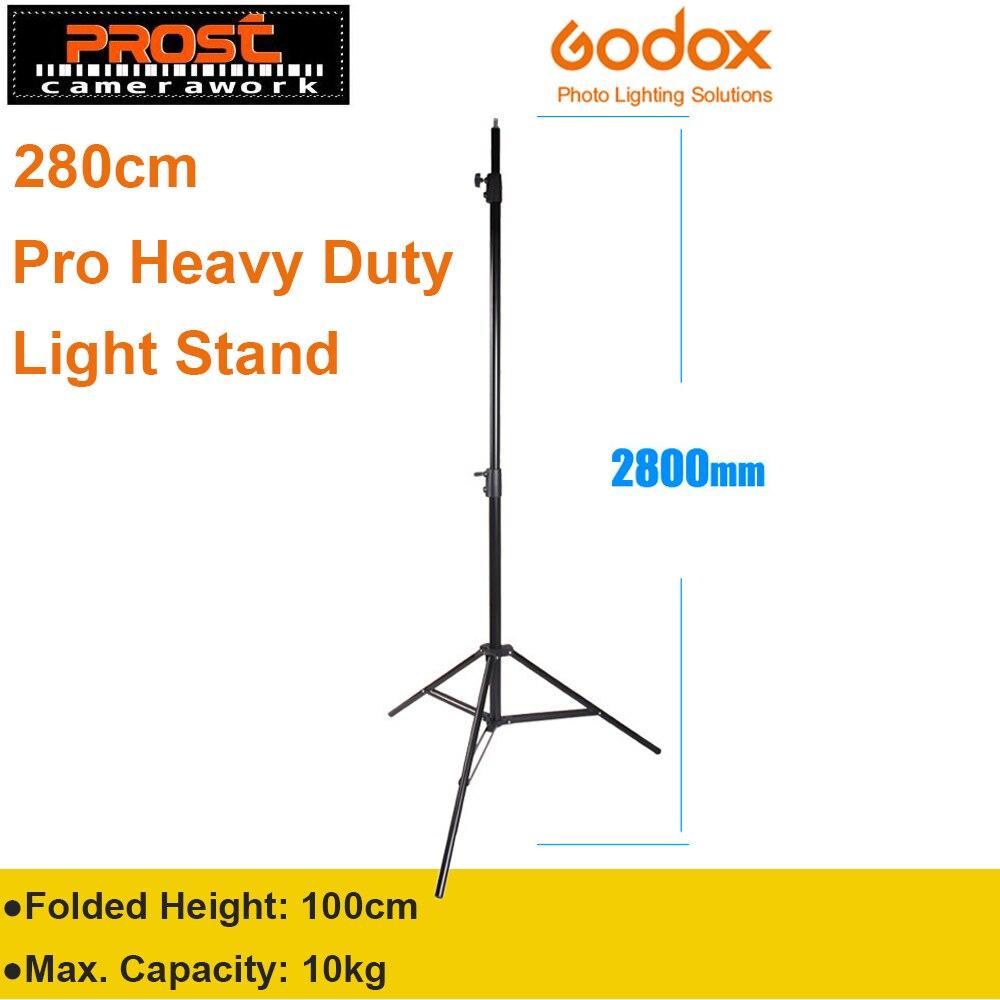 Godox 280cm 2.8m 9FT Pro Heavy Duty Light Stand for Fresnel Tungsten Light TV Station Studio Photo Studio Tripods<br>