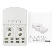 EDAL C801N LCD Quick Charger with Discharge Function for AA, AAA, 9V Ni-MH Ni-CD Rechargeable Batteries (3 in 1)(China)