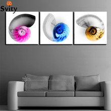 3 Panel Hot Sell Modern Painting Home Decorative Wall Art Picture Paint on Canvas Prints conch artwork