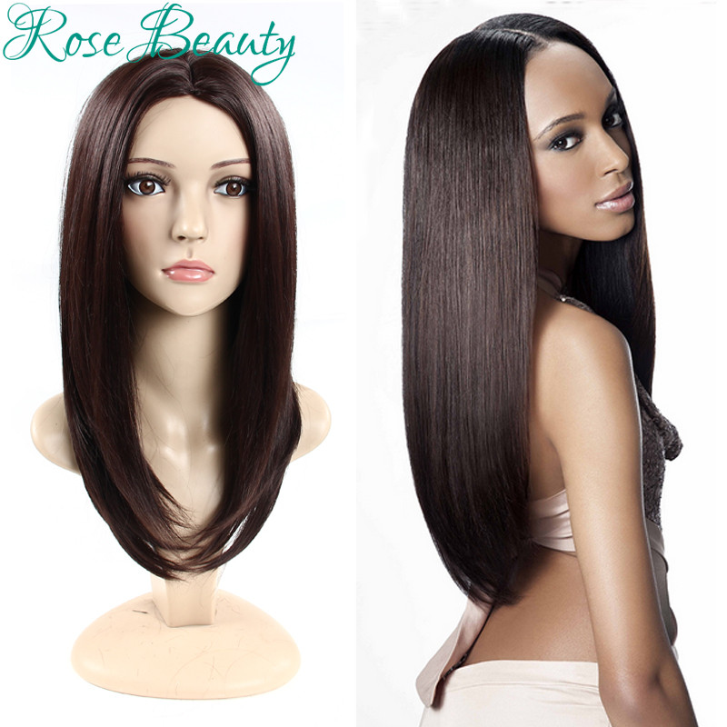 Silk long wigs straight cosplay wig,Glueless perruque synthetic wigs for black women,cheap black /brown /ombre/red wig peruca<br><br>Aliexpress