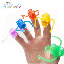 5pcs/Set Dinosaurs Finger Toy Kids Practical Jokes Novelty Toys & Hobbies Puppet Action Figures Story Toy(China)