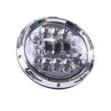 "7inch LED Headlight 90W Round H4 Headlamp For Jeep Wrangler Hummer Harley Motorcycle 7"" Led Halo Headlight With DRL Turn signal"