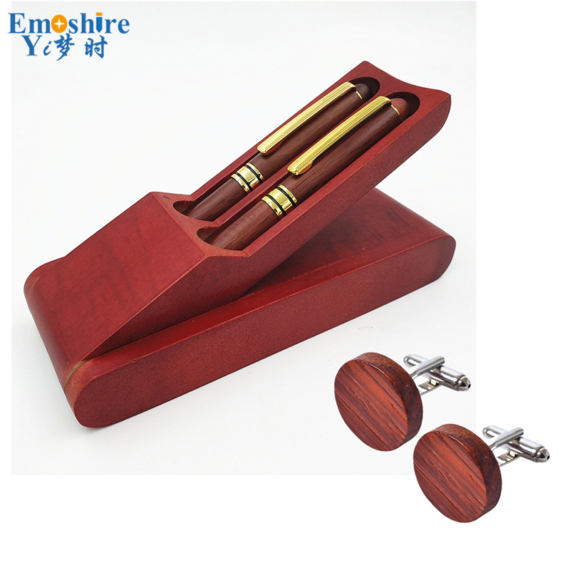 Emoshire Roller Ball Pen and Fountain Pen Cufflinks Gift Sets (1)