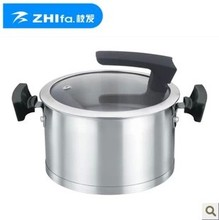 2013 new design stainless steel pot soup pot  can use induction and gas cooker  20cm