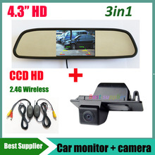 3in1 Wireless Car rear view backup camera For Buick LaCROSSE GL8 Opel Vectra Mokka Chevrolet Aveo Cruze wagon + 4.3'' car mirror
