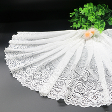 High quality white fine elastic lace accessories DIY garment accessories wholesale ultra wide 22cm