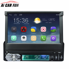 "Universal 7"" Capacitive Touch Screen Android 6.0 GPS Navigation Car Radio Stereo 1Din 1024*600 BT Radio Stereo Audio Player(China)"