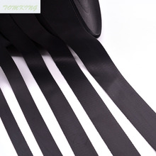 20mm/25mm/32mm/38mm/50mm high quality black nylon velvet ribbon webbing tape for hat luggage and bags garment  suppliers DIY