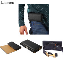 Laumans Leather Waist Bags belt clip Man Business Style Phone Wallet Case for samsung galaxy S6 edge S5 S6 S7 Edge S8 Note 3 4 5
