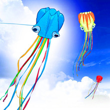 free shipping large octopus kite nylon ripstop outdoor toys big kites flying windsock kite for children albatross kite factory(China)