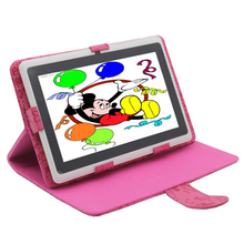 "7"" Q8 Tablet PC Android 4.4 Quad Core 512+8G Bluetooth WiFi Capacitive Dual Camera  Pink Tablet PC Support Leather  Case"