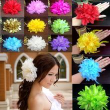 2015 New Flower Fascinator Elastic Pin Hair Wrist Corsage Wedding Bridal Party(China)