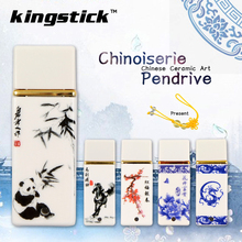 Blue and white porcelain Memory Stick Retro China usb flash drive ceramic pen drive 64G 8G 16G 32G pendrive usb stick 2017(China)