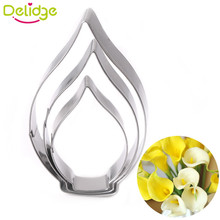 Delidge 3 pcs Calla Lily 3 Piece Set Biscuit Mold DIV Production Enjoy Hands-on fun  Cake Decorating Tools Flowers