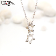 New Bijoux Luxury 925 Sterling-Silver-Jewelry Gifts Wholesale Women 925 Silver Sun Flower Collar Collier Necklaces