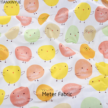 Cartoon chickabiddy Meter Fabric bedding Sheet Cotton Fabric DIY Patchwork Sewing fabric baby Saliva towel Cloth and hat fabric