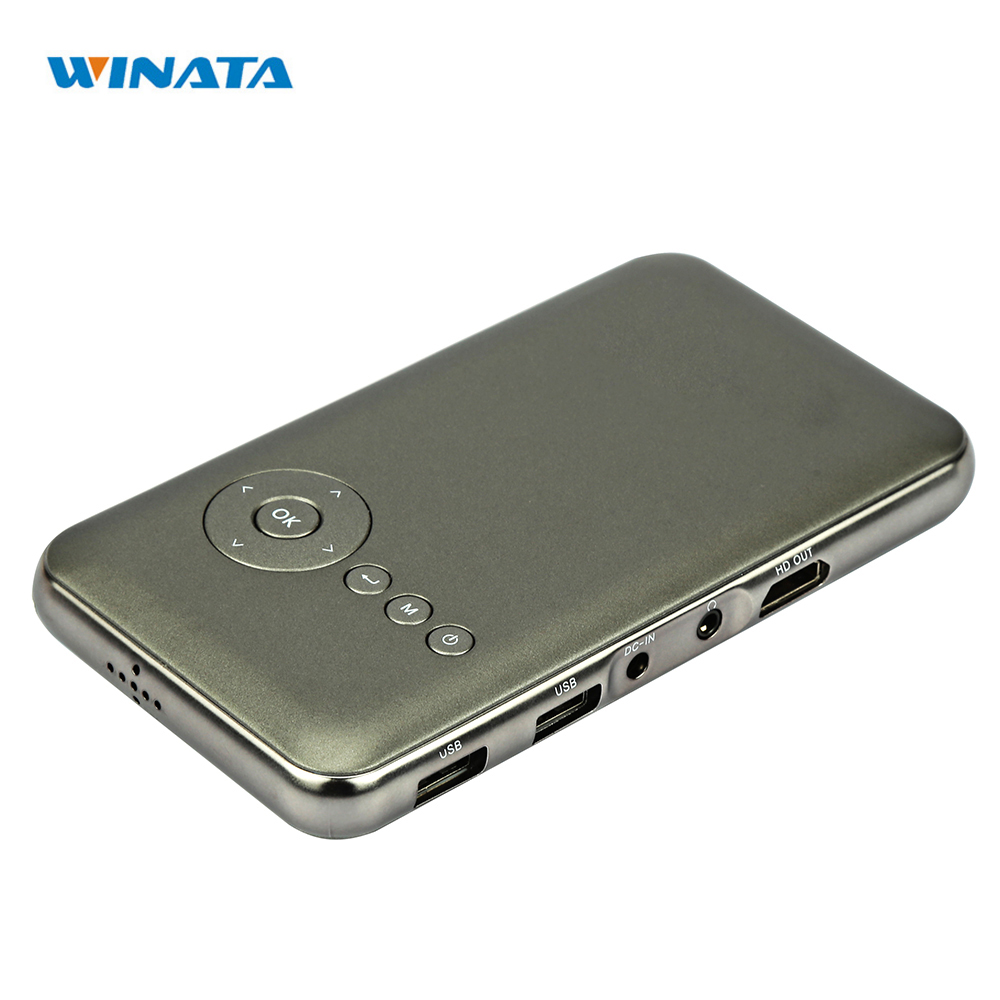 4000 mah Battery P8 Mini Phone Projector DLP Wifi Portable Handheld Smartphone Projector Android Pico Projector with HDMI/USB