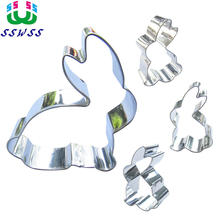 Small White Rabbit Shape Metal Tools Is Making Cakes Biscuits Desserts Pastrys Cookies Good Baking Molds,Direct Selling(China)