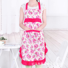Manufacturers Promotions Korean fashion lovely peach roses housework antifouling bow wholesale custom aprons(China)