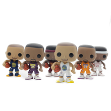Chanycore Funko pop 6 Types 10cm With Original Box Lebron James Kobe Bryant Stephen Curry Super Star NBA Basketball Vinyl Figure