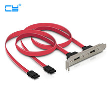 2 Ports SATA II internal to eSATA II external PCI Bracket SATA extension Cable 2PCS/lot(China)