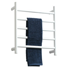 Factory Price Construction Bathroom Accessaries Electric Towel Warmer Radiator Rack, White Electric Heated Towel Rails Holder(China)