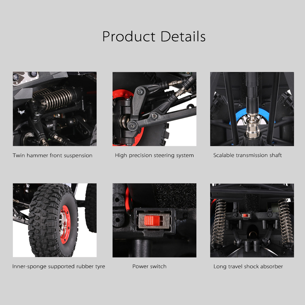 Remote Control Off-road Car Vehicles SUV 10428-B2 110 2.4G 4WD Electric Rock Crawler Buggy Desert Baja RC Cars RTR Boys Toys (8)