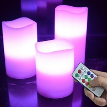 Christmas Remote Control Timing Electronic Candle Romantic Wedding Party Decoration Flash Flameless Tea Light