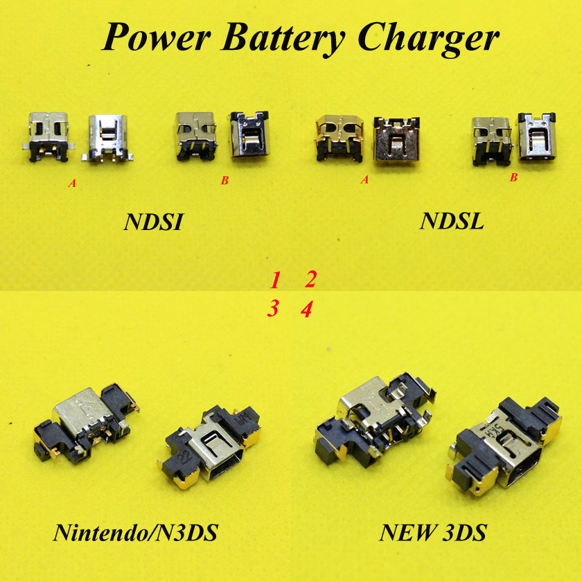 Power Jack Socket Charger Charging Dock Port Connector For Nintendo DSi XL NDSi NDSL DC connector jack for 3DS 3DSXL/LL NEW 3DS(China (Mainland))