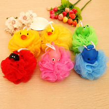 baby animals bath ball cartoon design doll duck girls super cute children boys head body shower cleaning bath flowers(China)