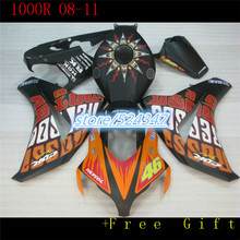 100% of cheap selling motorcycles from repsol CBR1000RR CBR 08-11 1000 2008 2009 2010  red orange black fairing body part three