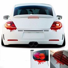 2PCS NEW Red Blood Auto Car Decal Sticker Drip Bleeding Zombie Reflective Graphics